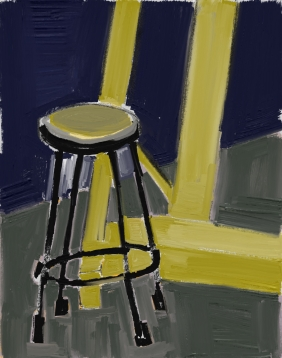 stool and easel